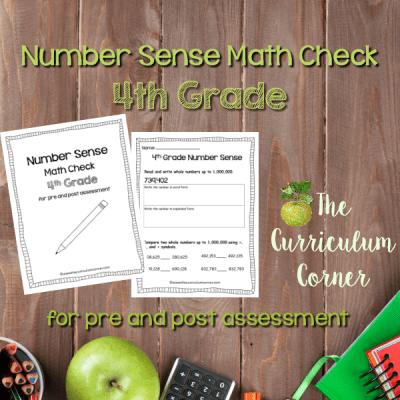 Math Check: 4th Grade Number Sense