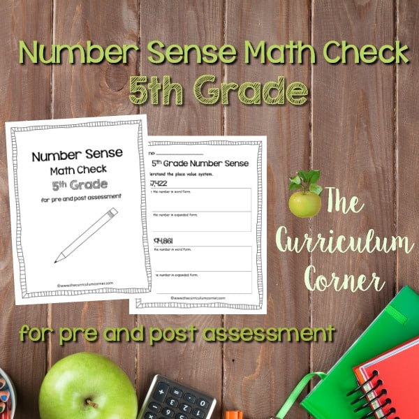 Math Check: 5th Grade Number Sense