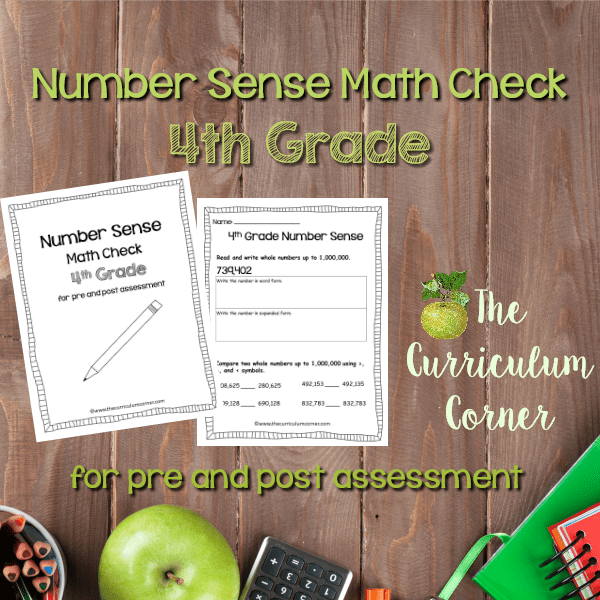 Math Check: 4th Grade Number Sense