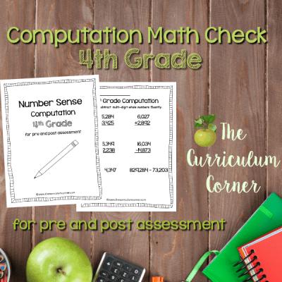 Math Check: 4th Grade Computation