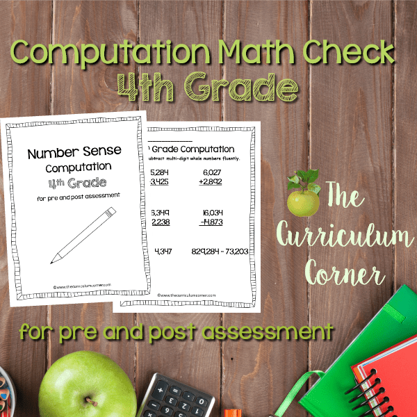 Math Check: 4th Grade Computation