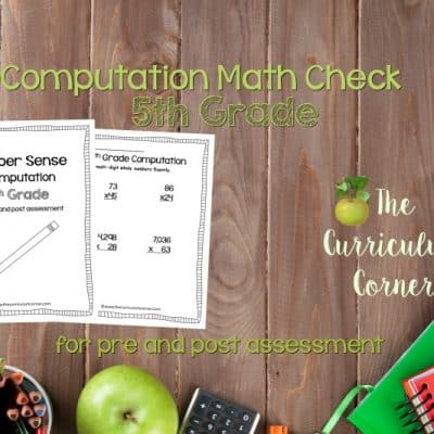 Math Check: 5th Grade Computation