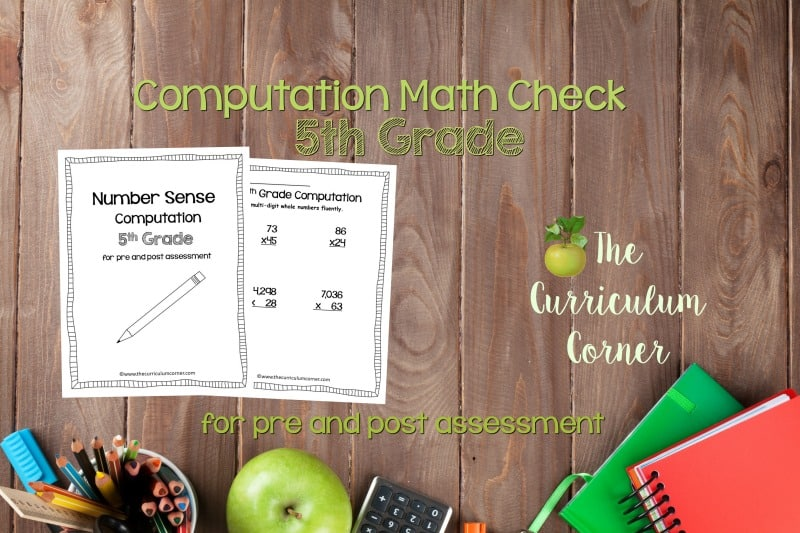 This 5th Grade Computation Math Check is designed to be a pre and post assessment for computation standards in your math classroom.