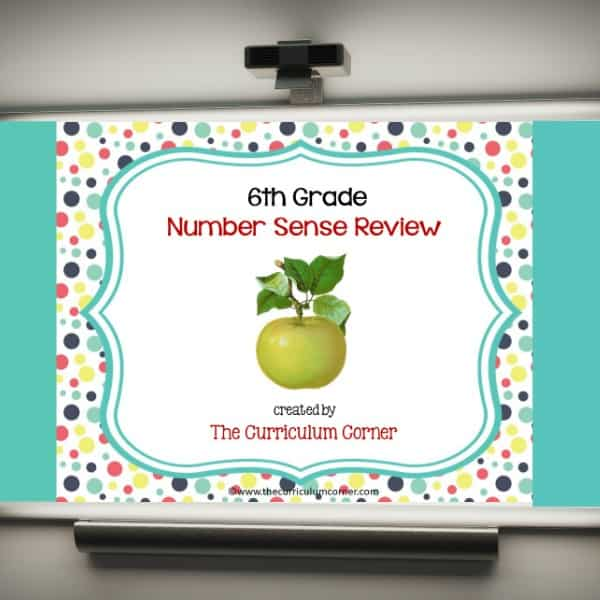 Review Game: 6th Grade Number Sense