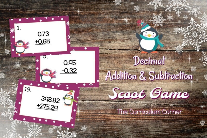 This Penguin Decimal Computation Scoot game is great for practice or review this winter in your fourth or fifth grade classroom!