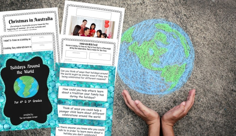 Celebrate Holidays Around the World in your classroom with this free printable collection from The Curriculum Corner.
