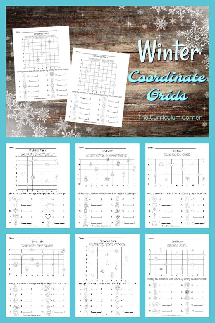 These winter ordered pairs have been created as an engaging, free printable math activity for your classroom (coordinate grids.) Created by The Curriculum Corner