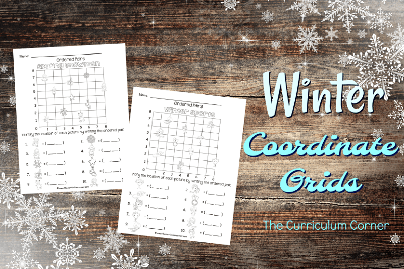 These winter ordered pairs have been created as an engaging, free printable math activity for your classroom (coordinate grids.)
