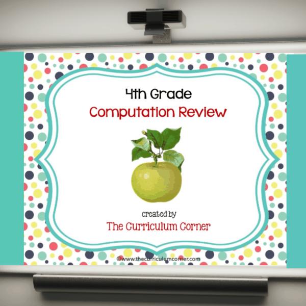 Review Game 4th Grade Computation