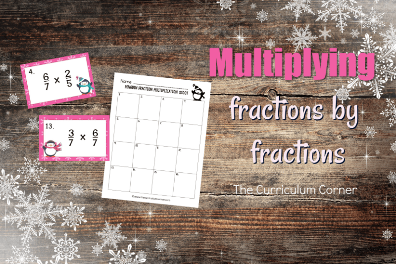 This Penguin Multiplying Fractions Scoot Game #2 (multiplying fractions by fractions) gives your students practice fractions.