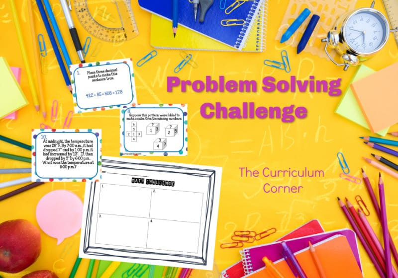 Challenge your mathematicians with this free problem solving challenge which contains ten word problems that will require a little extra thinking from your students.