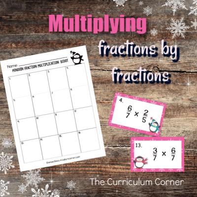 Fraction Scoot Game #2 (Fraction x Fraction)