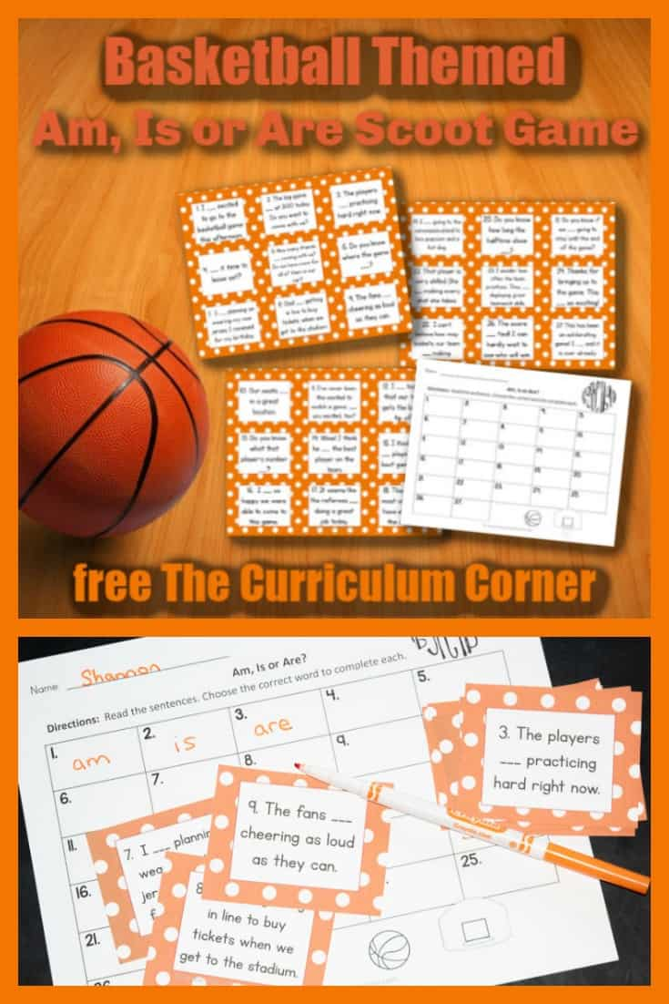 This Basketball Am, Is or Are Scoot game is great for practice or review your fourth or fifth grade classroom!