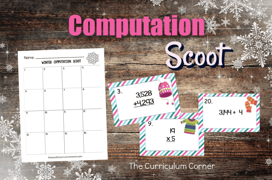 This Winter Computation Scoot game is great for practice or review this winter in your fourth or fifth grade classroom!