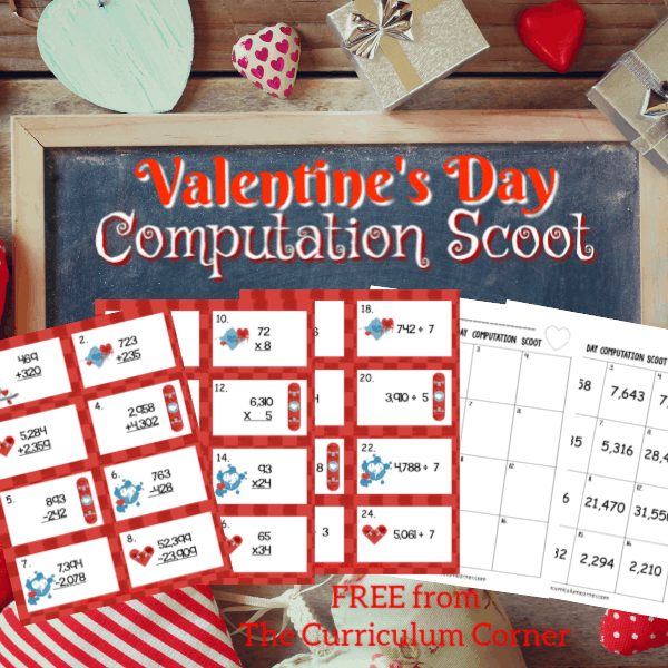 Valentine's Day Computation Scoot