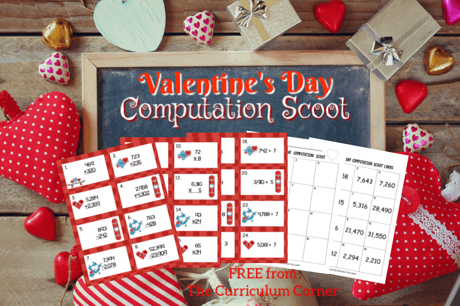 This Valentine's Day Computation Scoot game is great for practice or review this February in your fourth or fifth grade classroom!
