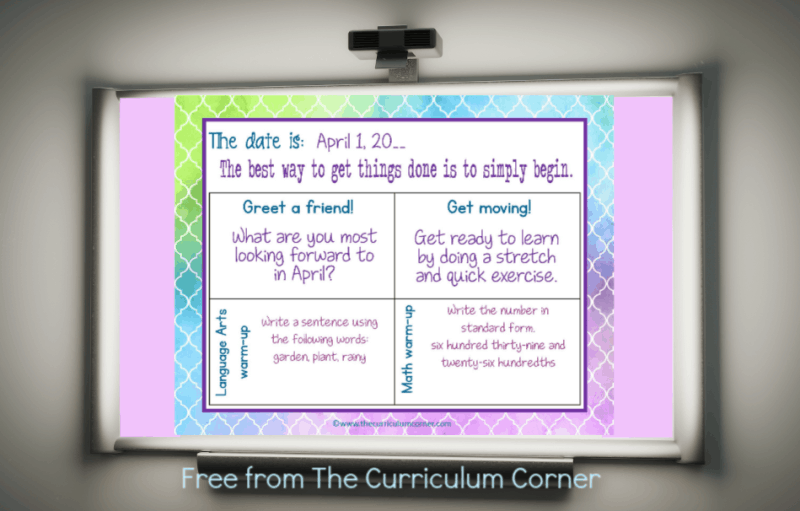 April Welcome Messages 456 Editable