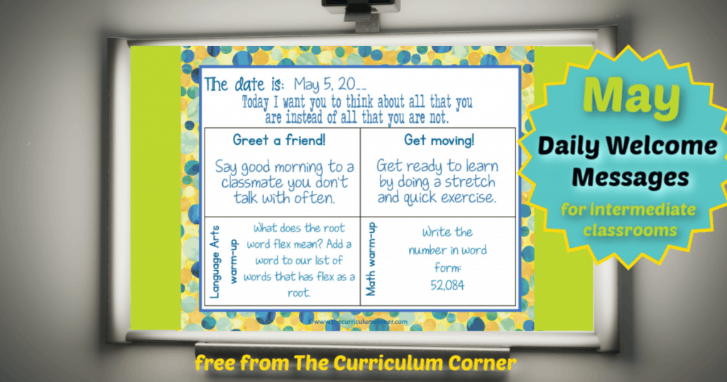 free daily welcome messages for intermediate students