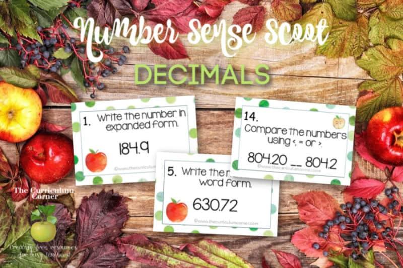 decimal number sense scoot