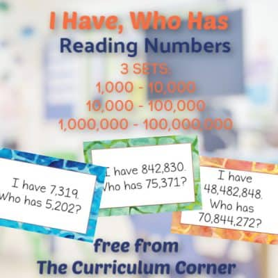 I Have, Who Has (bigger numbers)