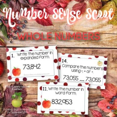 Number Sense Scoot: Whole Numbers
