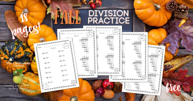 fall division practice pages