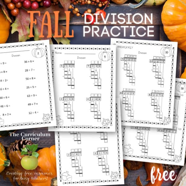 Computation Pages: Fall Division