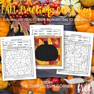 Fall Fraction Color Key