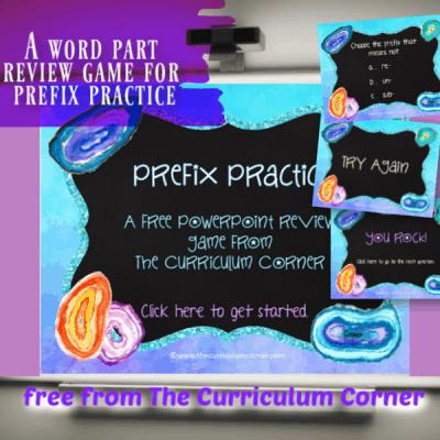 Prefix PowerPoint Game