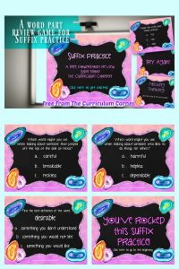 Suffix PowerPoint Game