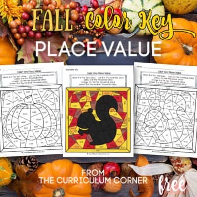 Fall Place Value Color Key