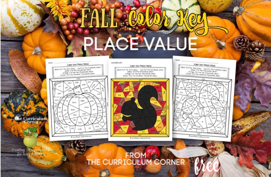 Fall Color Key Place Value