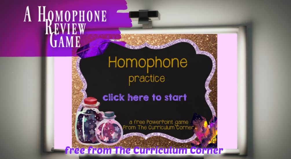homophone powerpoint game