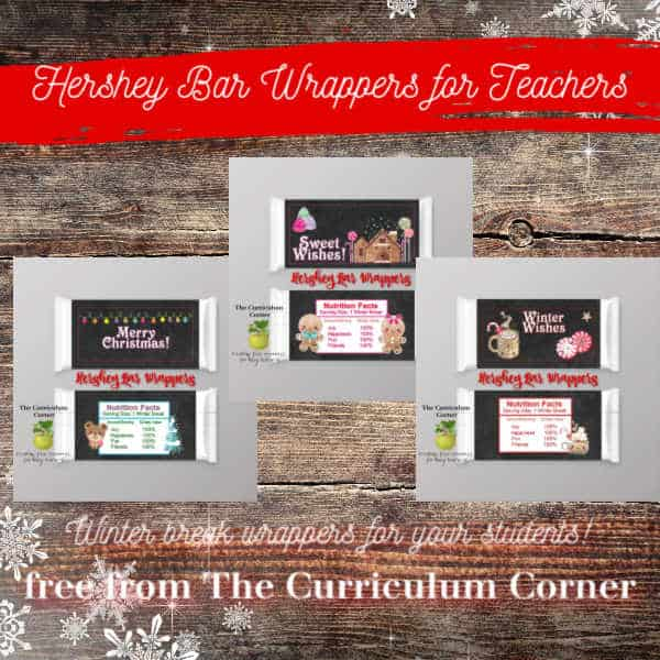 Winter Candy Wrappers for Teachers