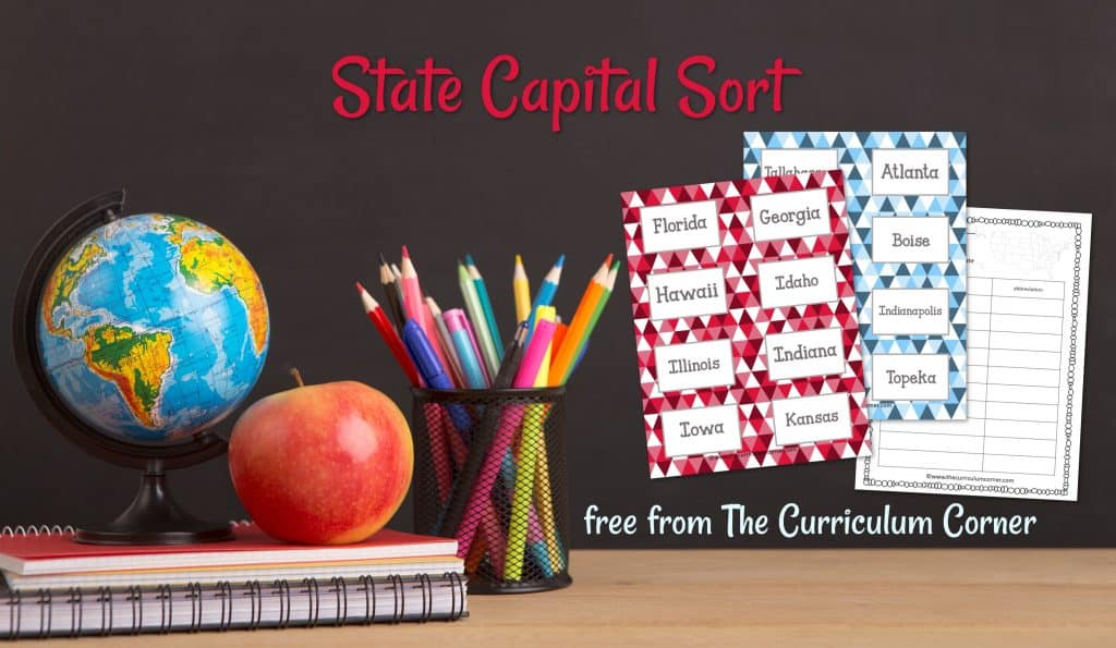 States & Capitals Cards