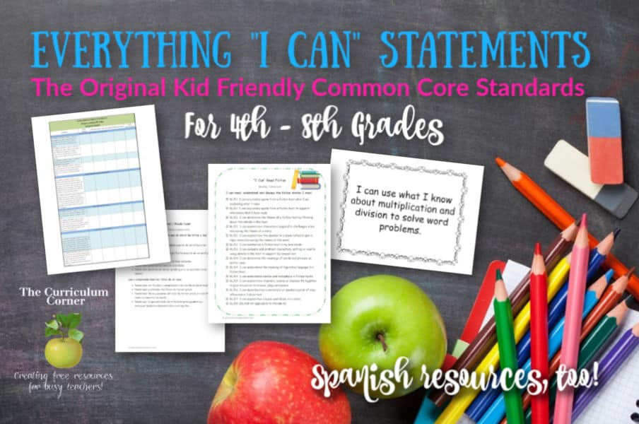 I Can Common Core Standards