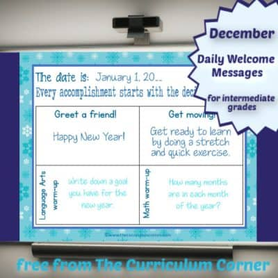 January Daily Welcome Messages