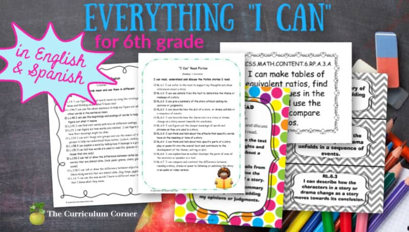 6th Grade I Cans