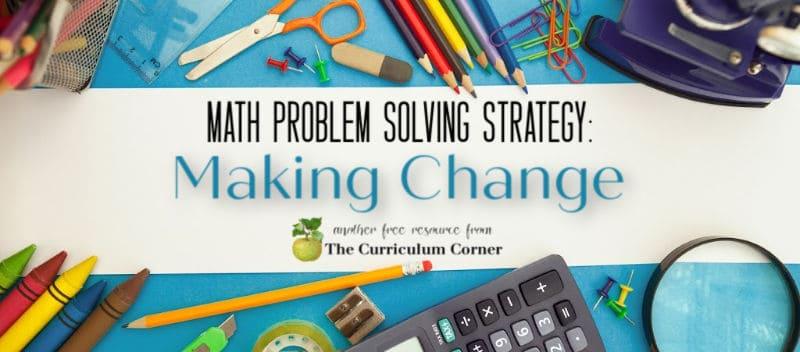 making change problem solving