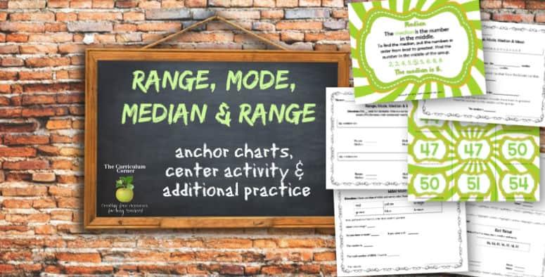 Range, Median, Mode & Mean