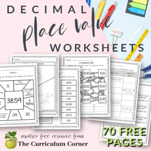 Decimal Place Value Worksheets
