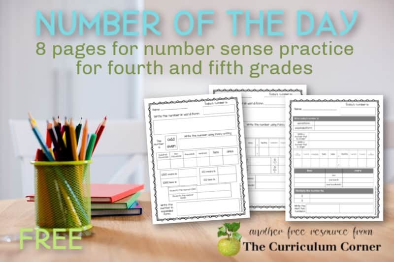 This collection of eight different number of the day worksheets will give your fourth and fifth grade students daily number sense practice.