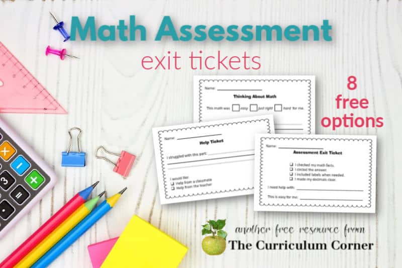 These math assessment exit tickets are a way to know what your students are thinking and feeling after a math assessment.