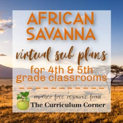 African Savanna: Virtual Sub Plans