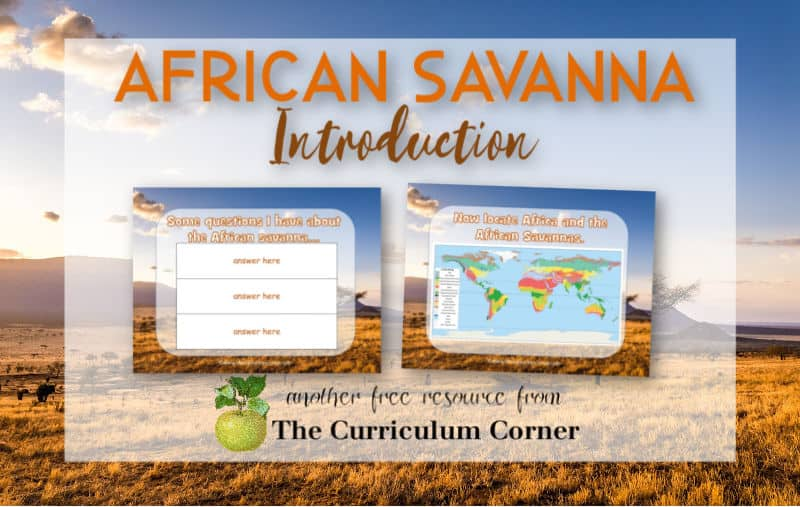 Virtual sub plans - African savanna introduction