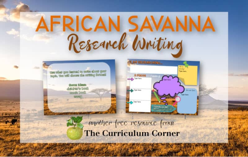 Virtual sub plans - African savanna research writing