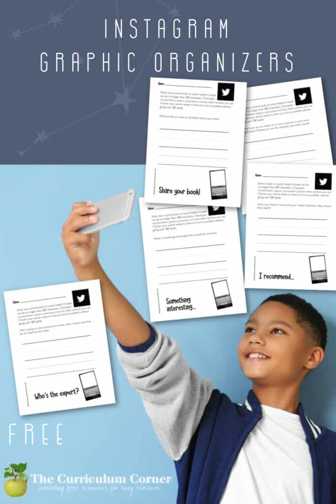 Download these Instagram reading response pages to guide student responses during independent reading.