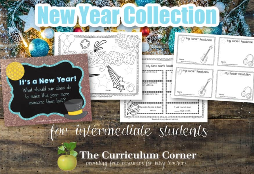 Start the new year with some new year goal setting and resolution making in your classroom with these free resources.