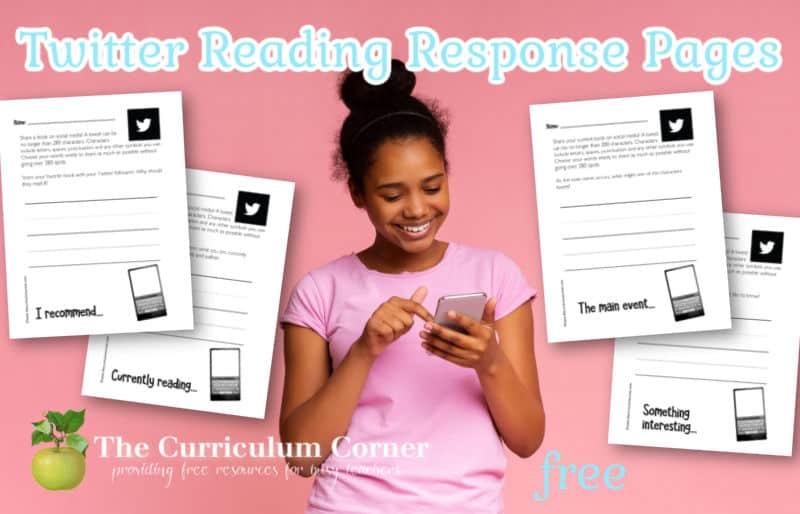 Download these Twitter reading response pages to guide student responses during independent reading.