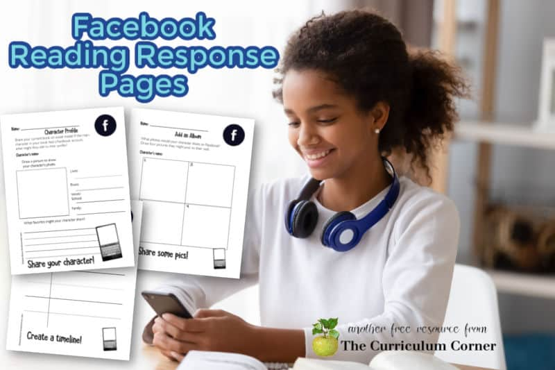 Download these free Facebook reading response pages as an option for student responses during reading workshop.